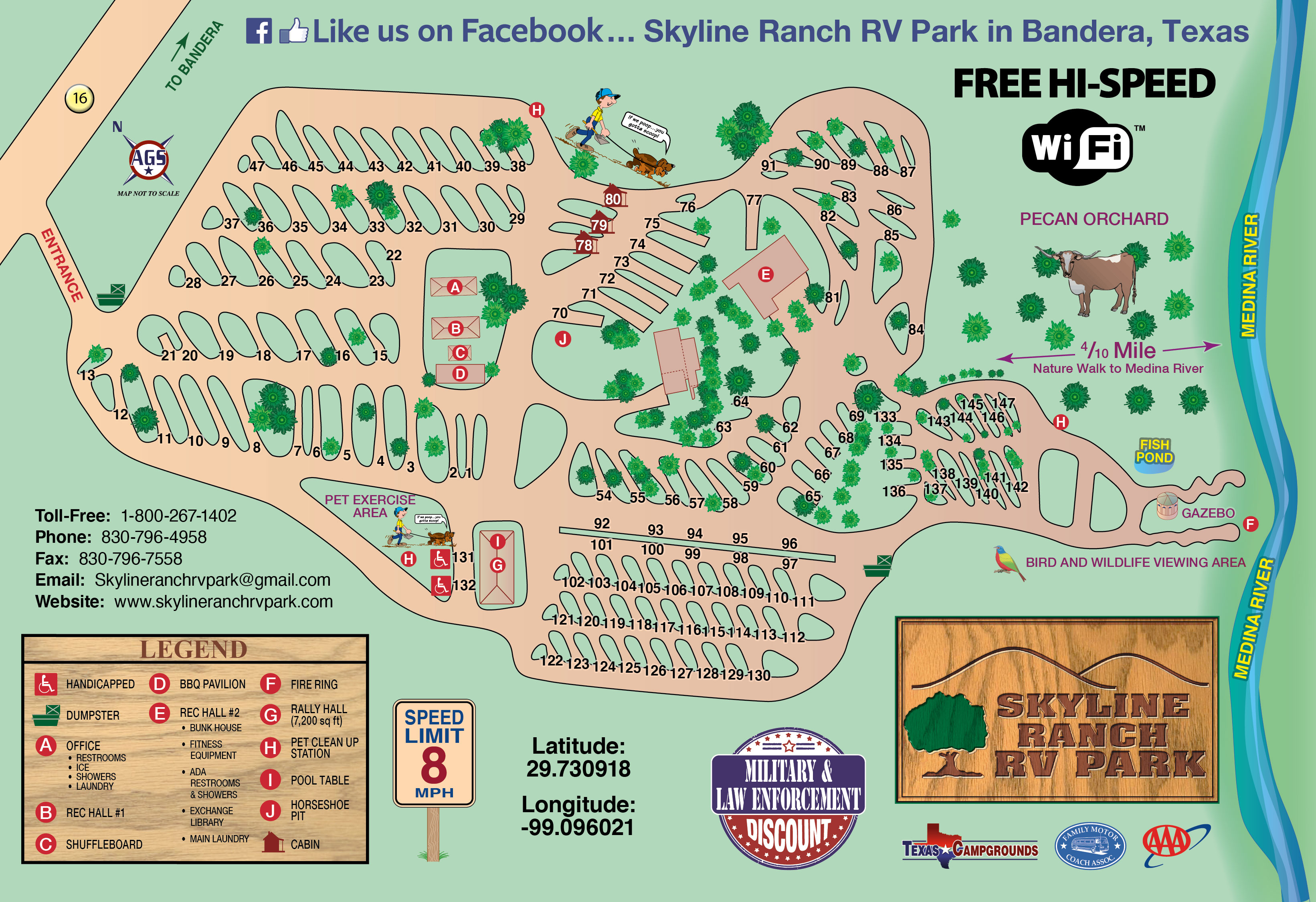 Texas Hill Country Rv Park Skyline Ranch Rv Park And Cabins